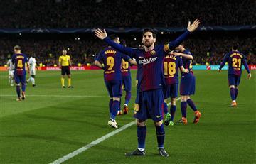 Barcelona con doblete de Lionel Messi clasificó a cuartos de final de la Champions League