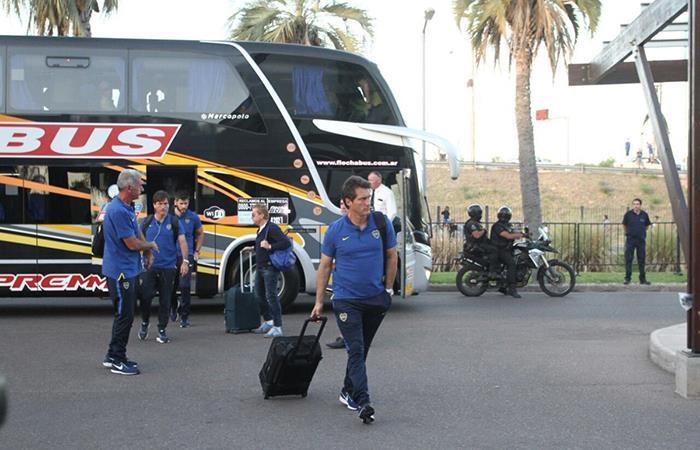 El plantel de Boca ya llegó a Mendoza (Foto: Facebook)