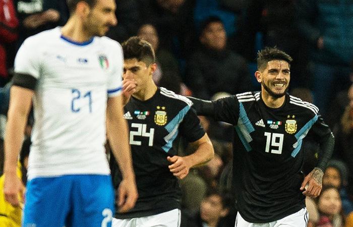 Argentina no necesitó brillar para vencer a Italia en amistoso
