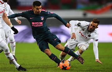 El Atlético de Madrid goleó al Lokomotiv de Moscú con gran actuación de Ángel Correa
