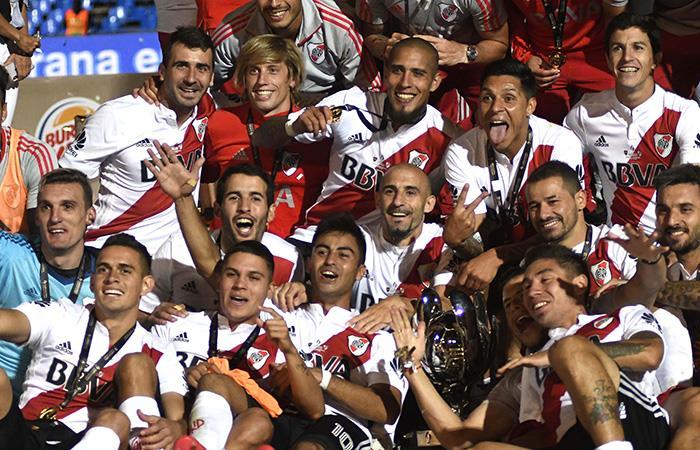 River se hizo con la Supercopa Argentina 2018. (AFP)