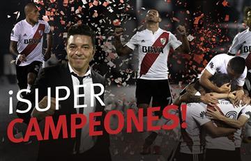 River: Mirá el festejo de todo el plantel tras la obtención de la Supercopa Argentina