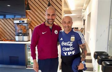 Selección Argentina: Jorge Sampaoli visitó a Pep Guardiola en Manchester