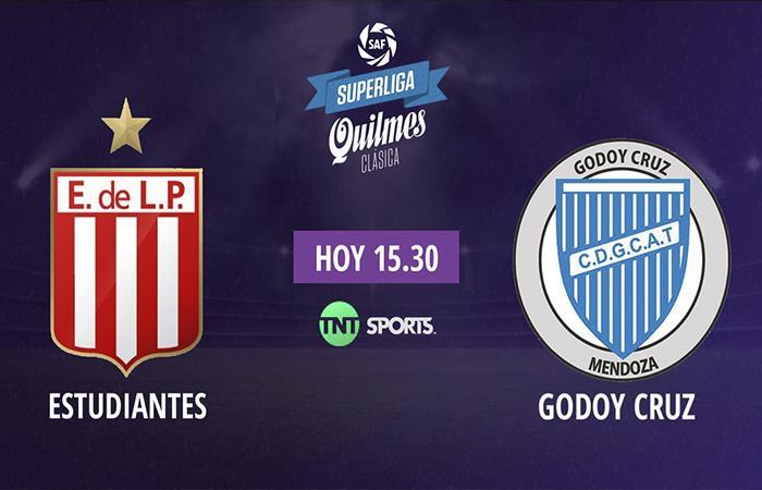 Estudiantes vs Godoy Cruz (Foto: Twitter)