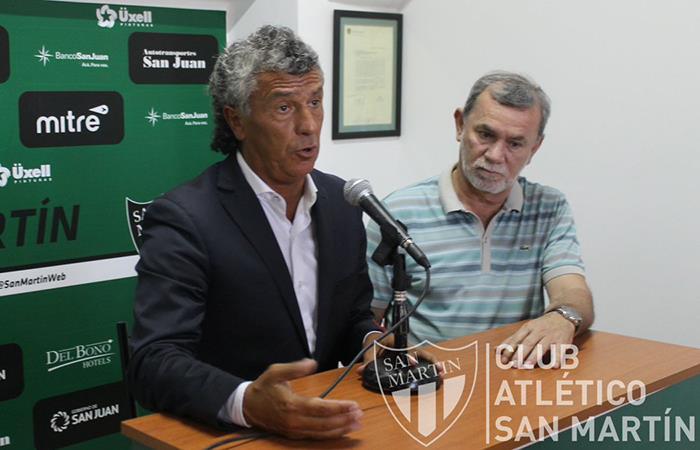 Gorosito deja de ser técnico de San Martín (SJ). Foto: Twitter
