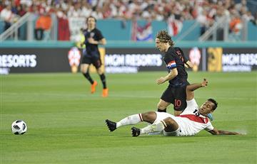Croacia fue superada por Perú y dejó muchas dudas de cara al Mundial