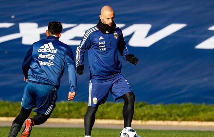 Javier Mascherano, si es titular ante España este martes, cumplirá su partido 142. Foto: Facebook