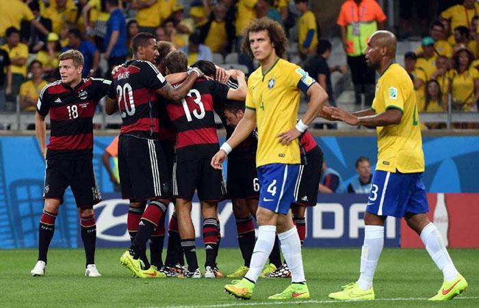 Alemania y Brasil chocan en partidazo. (AFP). Foto: AFP