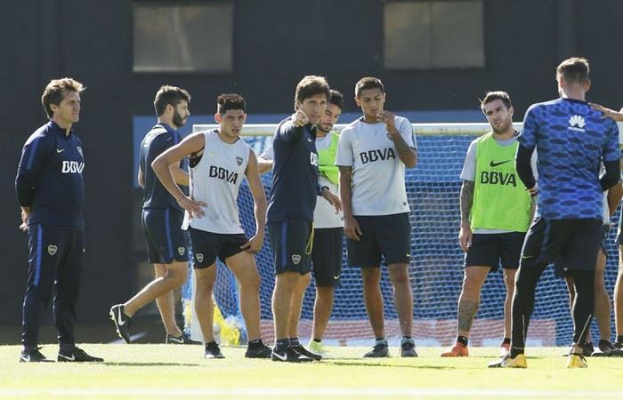Boca se entrena pensando en Talleres. Foto: Twitter