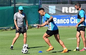 Eduardo Coudet: Lautaro Martínez va de titular ante Belgrano