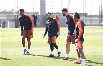 Lionel Messi entrena parcialmente con el Barcelona