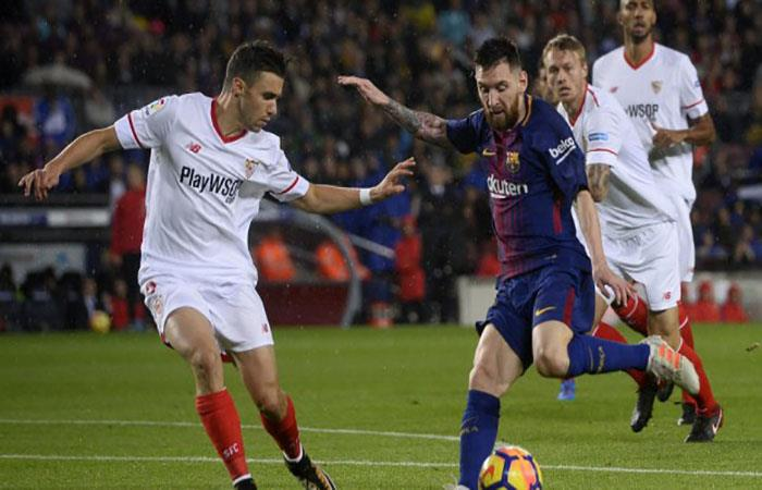 El Sevilla es la víctima prrida de Lionel Messi. (AFP). Foto: AFP