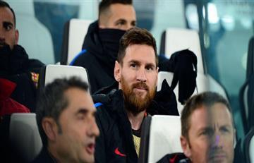 Lionel Messi arranca en el banco para el Barcelona vs Sevilla