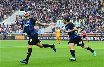 Mauro Icardi anotó un doblete en la victoria del Inter de Milán