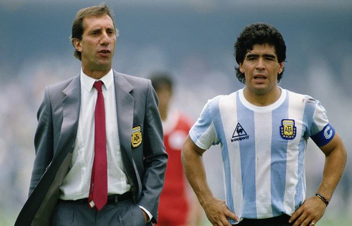 Carlos Bilardo y Diego Armando Maradona. (AFP). Foto: AFP