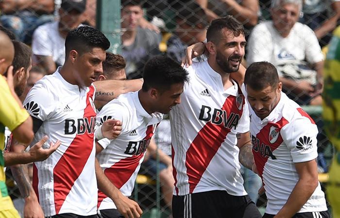 River consiguió su cuarto triunfo al hilo derrotando 3-1 a Defensa y Justicia en Varela. Foto: Twitter