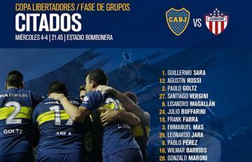 Boca: la lista de concentrados para enfrentar a Junior por la Copa Libertadores