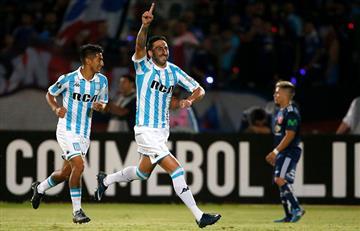 Racing jugando con uno menos, empató ante la U. de Chile en Santiago