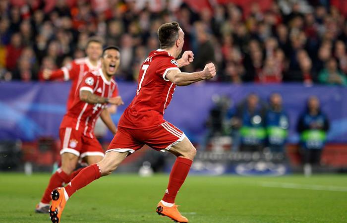 Bayern lo dio vuelta al Sevilla en el Sánchez Pizjuán y se acerca a semifinales (Foto: Twitter)