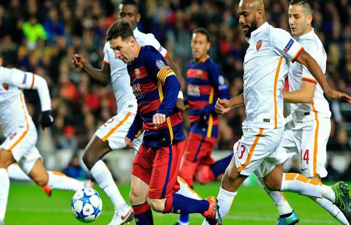 Lionel Messi ante la Roma. (AFP). Foto: AFP