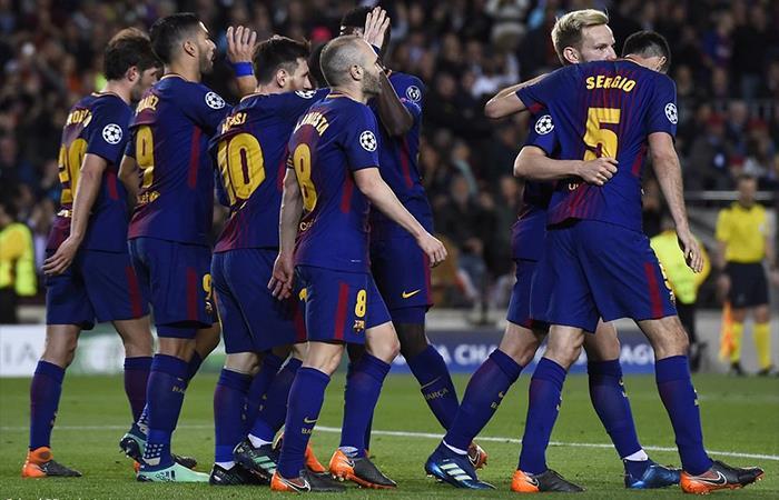 Barcelona derrotó 4-1 a la Roma por Champions League. Foto: Twitter