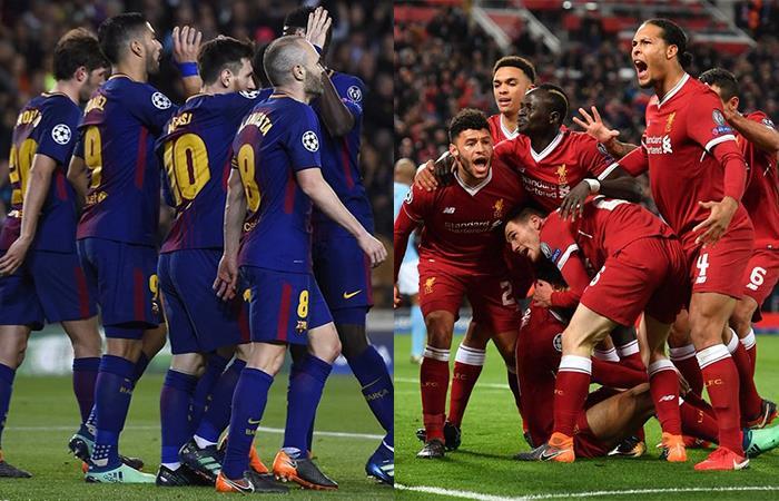 Barcelona y Liverpool. Foto: Twitter