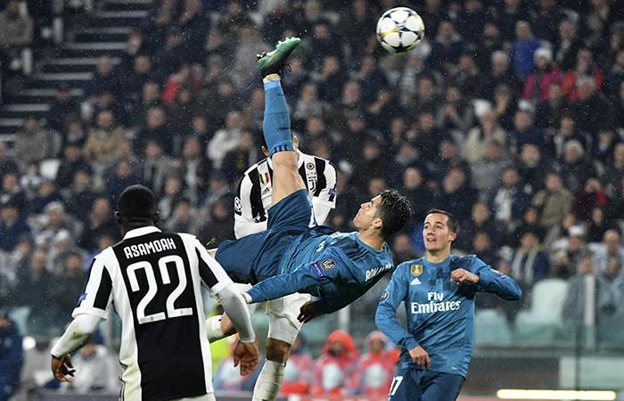 Cristiano Ronaldo y un gol para la historia. (FOTO: AFP)
