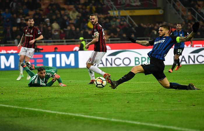Mauro Icardi anotó un gol que sería anulado. (AFP). Foto: AFP