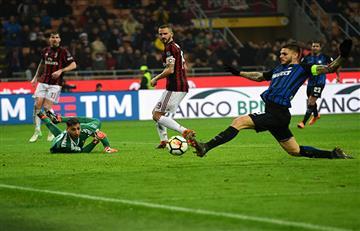 Milan y el Inter de Mauro Icardi igualaron sin goles en discreto clásico
