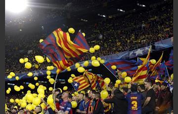 Champions League: UEFA abre expediente al Barcelona por protesta de hinchas