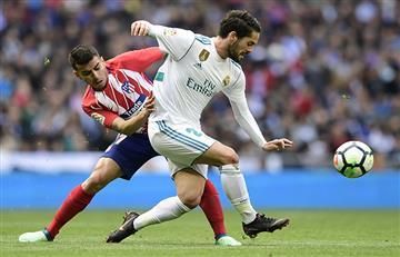 Real Madrid y Atlético de Madrid igualaron 1-1 en gran partido