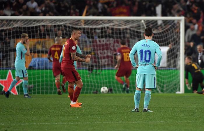 Barcelona fue eliminado por la Roma en el estadio Olímpico. Foto: AFP