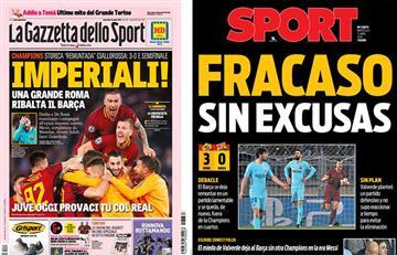 Champions League: las reacciones del histórico triunfo de la Roma sobre el Barcelona