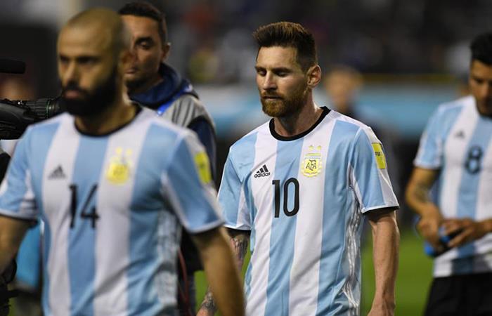 La Selección Argentina paga el precio de la derrota ante España. (AFP). Foto: AFP