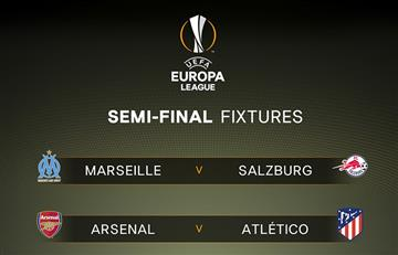 Europa League: Arsenal vs Atlético y Marsella vs Salzburg por las semifinales