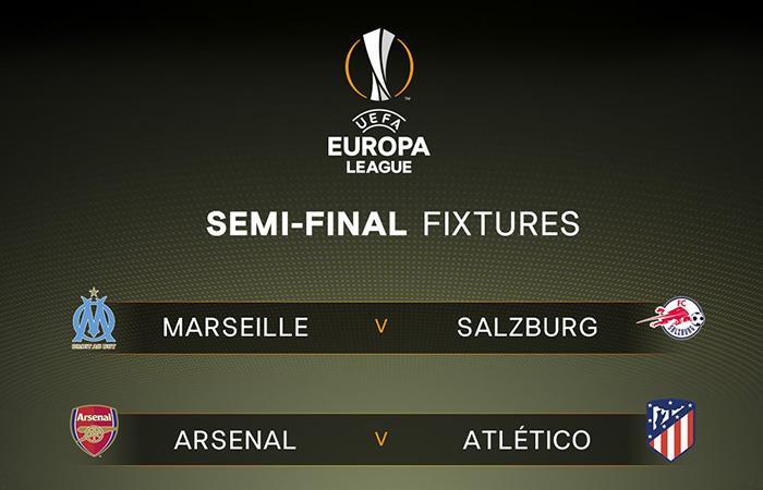 El Aleti de Simeone se enfrentará al Arsenal inglés, mientras que Marsella será favorito ante Salzburgo. Foto: Twitter