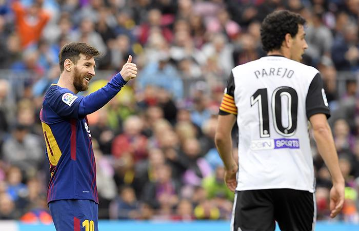 Lionel Messi logró un récord histórico con el Barcelona. (AFP)