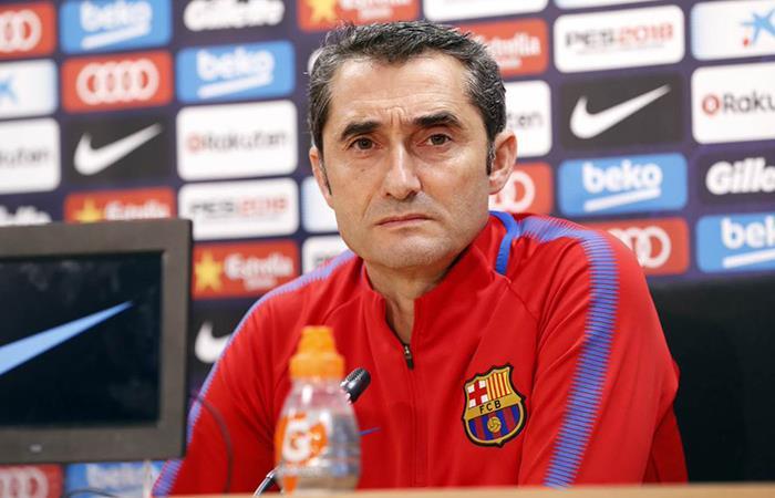 Valverde no descartó darle descanso a Messi para enfrentar al Celta este martes. Foto: Twitter