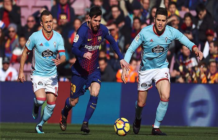 Lionel Messi ante el Celta. (EFE)
