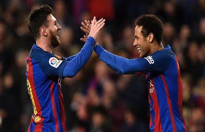 Lionel Messi y Neymar. (AFP)