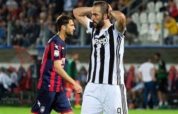 Juventus de Higuaín y Dybala no pudieron ante el Crotone por la Serie A de Italia