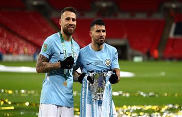 Sergio Agüero y Nicolás Otamendi en el equipo ideal de la Premier League