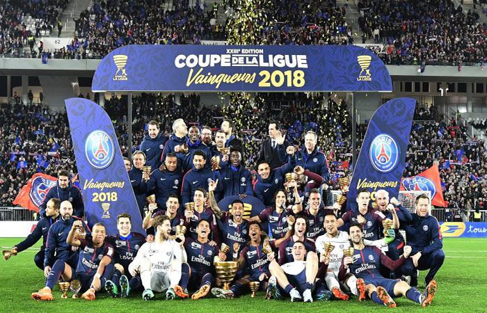 El PSG se coronó campeón de la Copa de la Liga ante el Mónaco. (EFE)