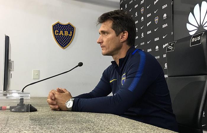 Guillermo brindó conferencia de prensa en la previa del Boca-Newell's. Foto: Twitter
