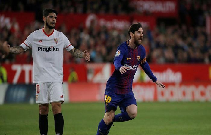 Barcelona y Sevilla chocan por la final de la Copa del Rey. (AFP)
