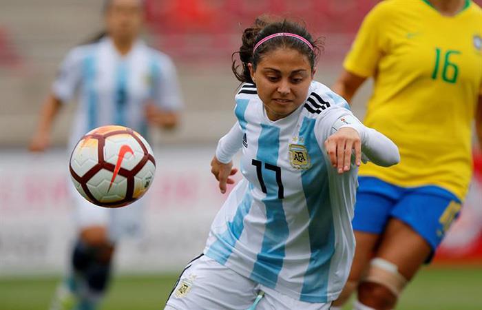 Natalie Juncos, jugadora de la Selección Argentina. (). Foto: EFE