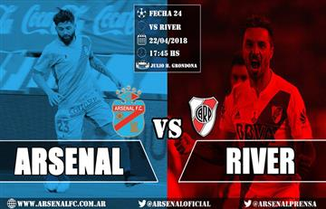 River Plate le gana a Arsenal 3-0 EN VIVO ONLINE por la Superliga
