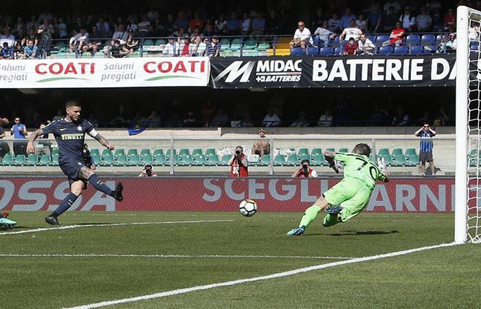 Mauro Icardi anota y sigue en racha. (). Foto: EFE