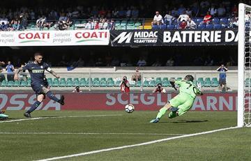 Mauro Icardi anotó en la victoria del Inter de Milán