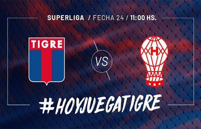 Tigre vs Huracán (Foto: Twitter)